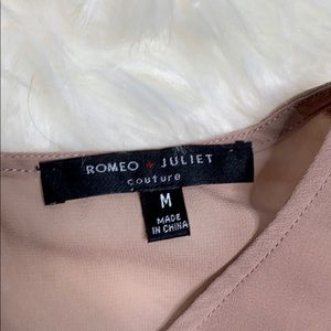 Romeo & Juliet Couture Tops - Romeo + Juliet Couture Mauve Ruffle Sheer Tank